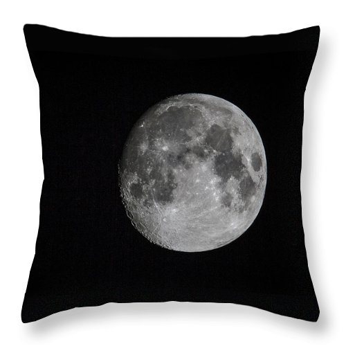 Moon Throw Pillow featuring the photograph Full Moon by Jean Noren