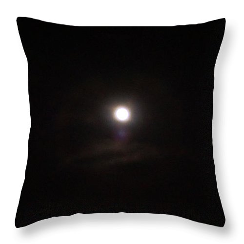Moon Throw Pillow featuring the photograph Full Moon by Marc Storch
