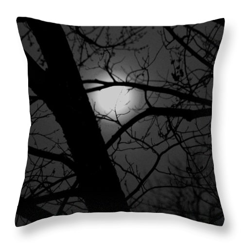 Full Moon Throw Pillow featuring the photograph Full Moon Rising by Eddie Miller