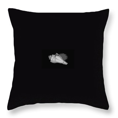 Digital Artwork Throw Pillow featuring the digital art Full Shell by Laurie Pike