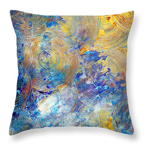 Texture Throw Pillow featuring the painting Fun With Circles by Presa Hall