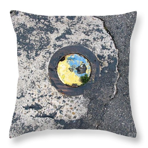 Abstract Throw Pillow featuring the photograph Funky Street Art by Jussta Jussta