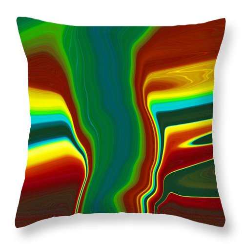 Abstract Throw Pillow featuring the painting Funnel Cloud C2014 by Paul Ashby