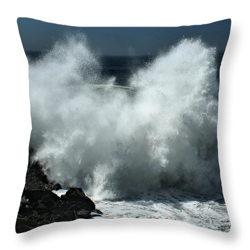 Hurricane Throw Pillow featuring the photograph Fury Of Maruie by Michael Gordon