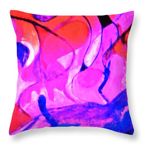 Abstract Throw Pillow featuring the digital art Fuscian Flow by Renee Michelle Wenker
