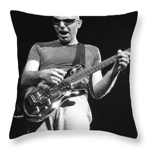 Guitarist Throw Pillow featuring the photograph G3 by Concert Photos