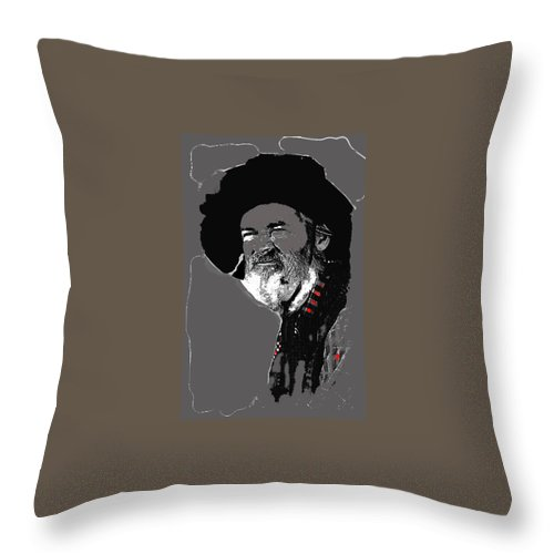 Gabby Hayes #3 1945 Throw Pillow featuring the photograph Gabby Hayes #3 1945-2013 by David Lee Guss