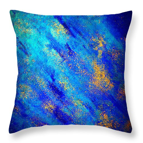 Abstract Throw Pillow featuring the painting Galaxy II by Jay Strong