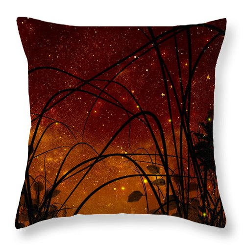 Galaxy Throw Pillow featuring the painting Galaxy by Persephone Artworks