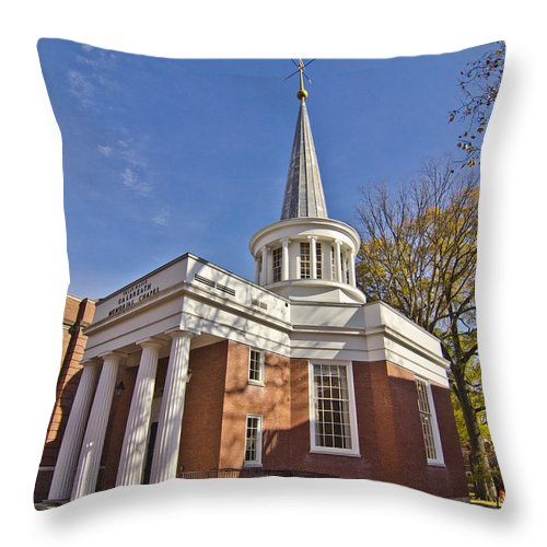 Chapel Throw Pillow featuring the photograph Galbreath Chapel by Shirley Tinkham