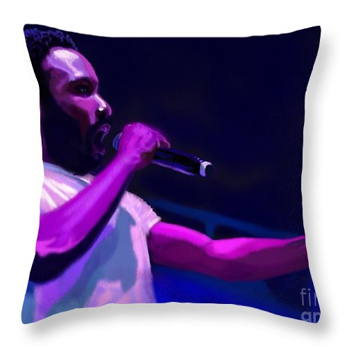 Childish Gambino Throw Pillow featuring the painting Gambino Is A Mastermind by Jeremy Nash