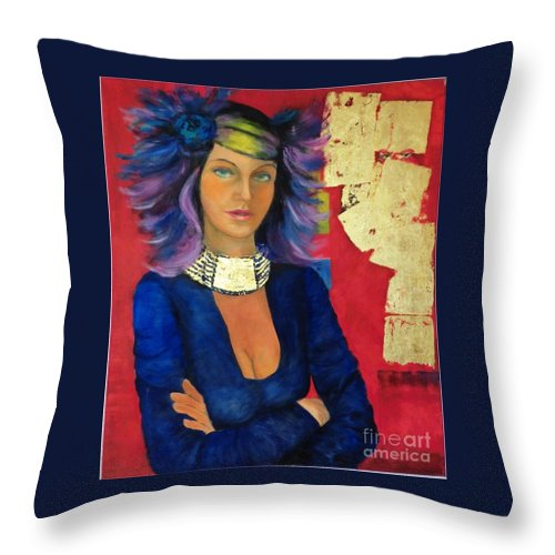 Game-of-chance Throw Pillow featuring the painting Game Of Chance by Dagmar Helbig