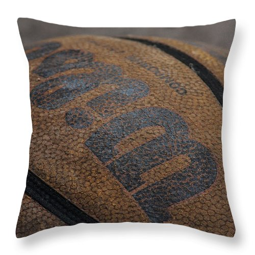 Ball Throw Pillow featuring the photograph Game On by Eugene Campbell