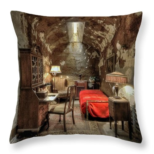 Abandoned Throw Pillow featuring the photograph Gangsta's Paradise by Evelina Kremsdorf