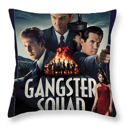 Gangster Squad Throw Pillow featuring the photograph Gangster Squad by Movie Poster Prints