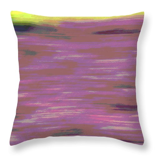 Abstract Throw Pillow featuring the photograph Garden Abstract by Suzanne Gaff