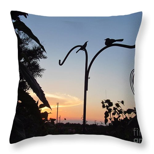 Garden Throw Pillow featuring the photograph Garden At Dusk by Tina M Wenger