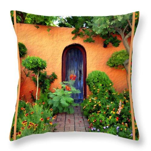 Garden Throw Pillow featuring the photograph Garden Delights Mesilla by Kurt Van Wagner