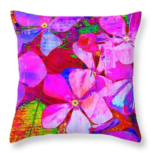 Flowers Throw Pillow featuring the photograph Garden Of Hope 002 by Robert ONeil