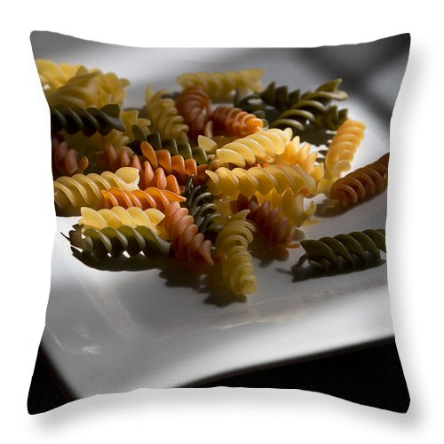 Food Throw Pillow featuring the photograph Garden Rotini by Mark McKinney