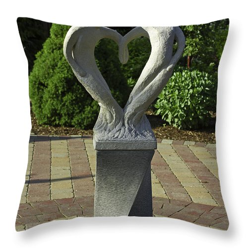 Sculpture Throw Pillow featuring the photograph Garden Sculpture by David Freuthal