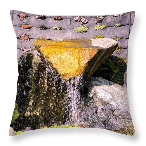 Garden Throw Pillow featuring the photograph Garden Wall by Tikvah's Hope