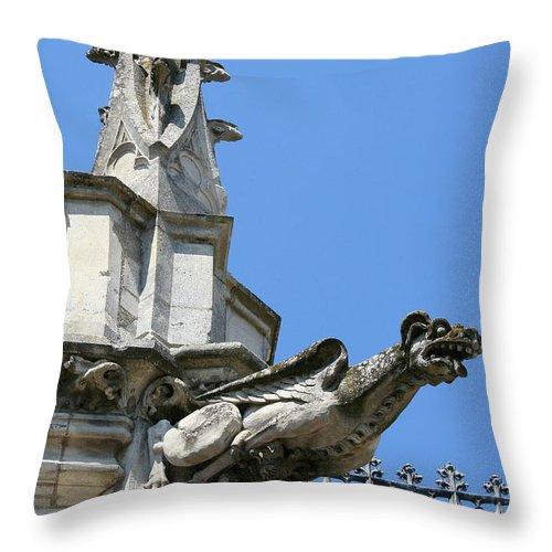 Gargoyle Throw Pillow featuring the photograph Gargoyle by Christiane Schulze Art And Photography