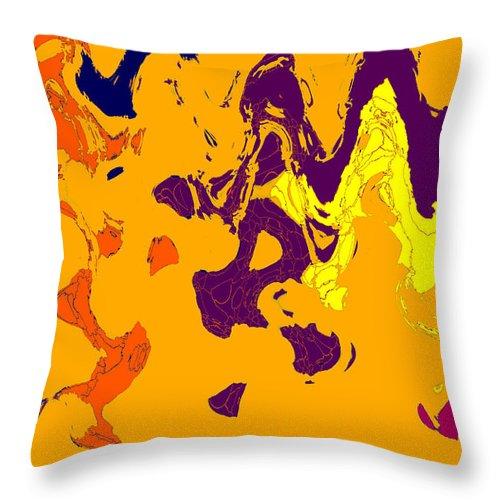 Abstract Throw Pillow featuring the digital art Garp 1 by John Saunders