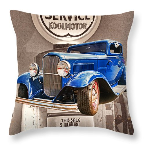 Cars Throw Pillow featuring the photograph Gasoline Alley by Randy Harris