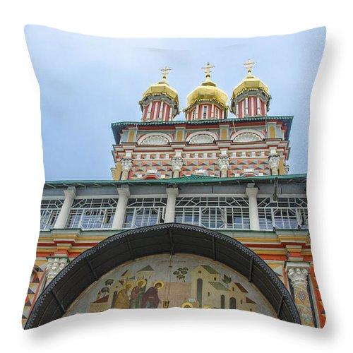 Church Throw Pillow featuring the photograph Gateway Church by Pravine Chester