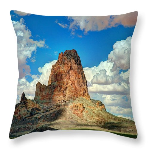Landscape Throw Pillow featuring the photograph Gateway by Richard Gehlbach