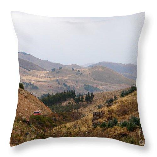 Desert Throw Pillow featuring the photograph Gateway To The Bolivian Desert by Lew Davis