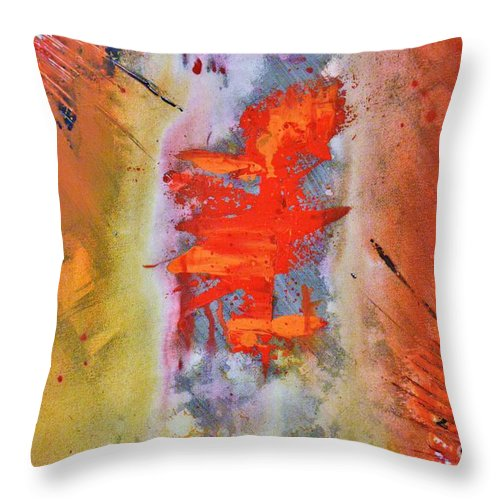 Abstract Throw Pillow featuring the painting Guardian Angel by Shane Weiss