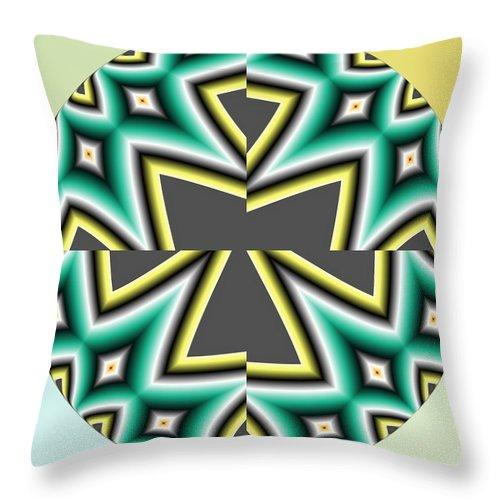 Green Throw Pillow featuring the digital art Gaza Strip by John Holfinger