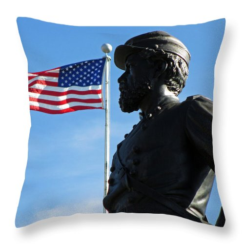 History Throw Pillow featuring the photograph General Reynolds by Lynne Shields