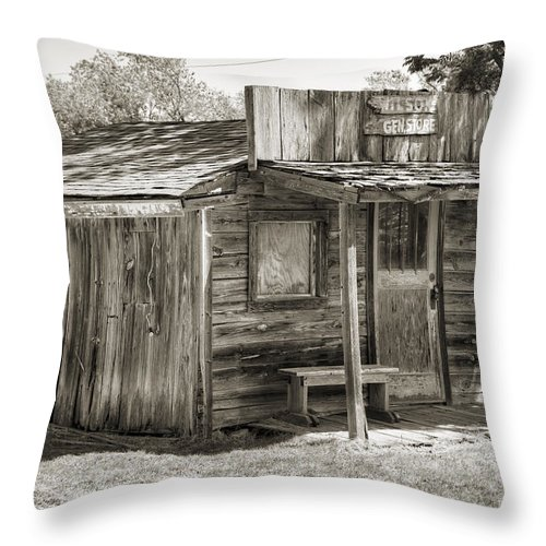 Ingalls Throw Pillow featuring the photograph General Store II by Ricky Barnard