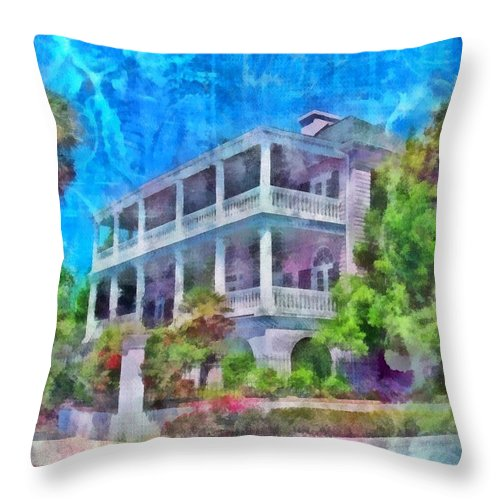 Jesus Throw Pillow featuring the digital art Genesis 24 40 by Michelle Greene Wheeler