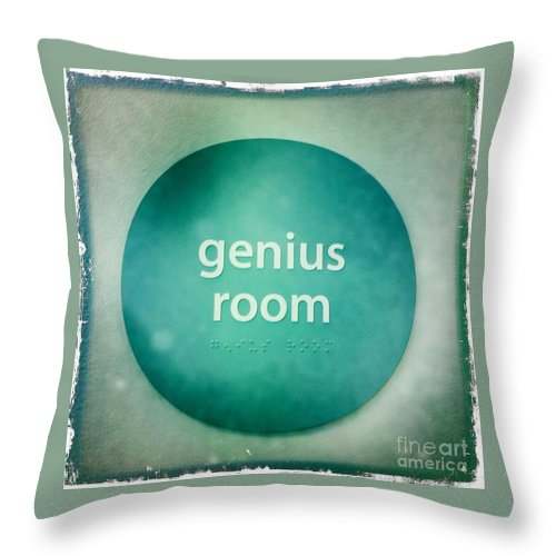 Square Throw Pillow featuring the photograph Genius Room by Nina Prommer