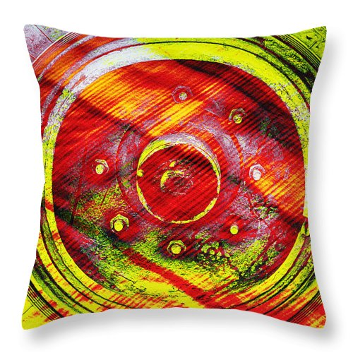 Lines Throw Pillow featuring the photograph Geometric Colors by Prakash Ghai