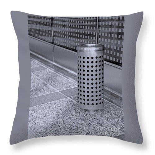 Receptacle Throw Pillow featuring the photograph Geometric Gem by Ann Horn