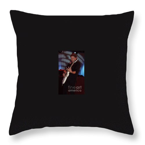 George Thorogood Ii Throw Pillow featuring the photograph George Thorogood II by John Telfer