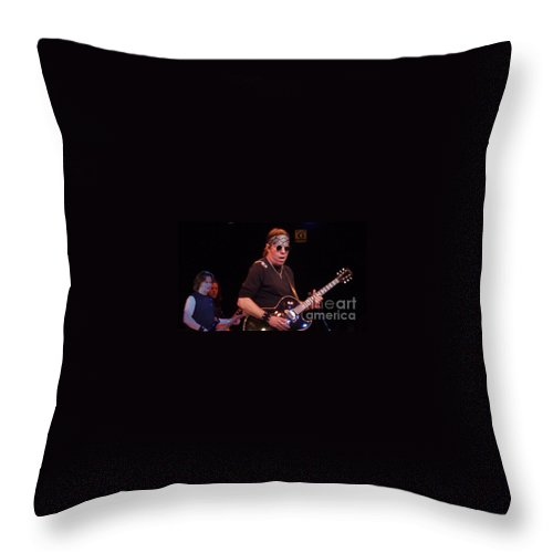 George Thorogood Throw Pillow featuring the photograph George Thorogood by John Telfer