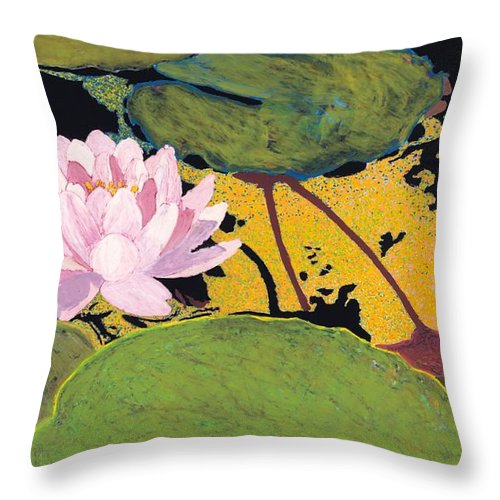 Landscape Throw Pillow featuring the painting Georgia Summer by Allan P Friedlander