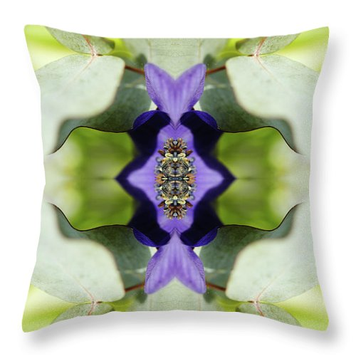 Tranquility Throw Pillow featuring the photograph Gerbera Flower by Silvia Otte