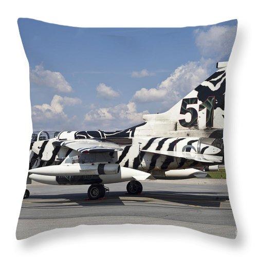 Germany Throw Pillow featuring the photograph German Air Force Tornado Aircraft by Timm Ziegenthaler