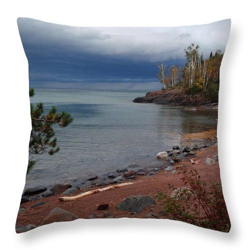 Melissa Peterson Nature Photography Scenic Scenery Iona's Beach Beaches Throw Pillow featuring the photograph Get Lost In Paradise by James Peterson