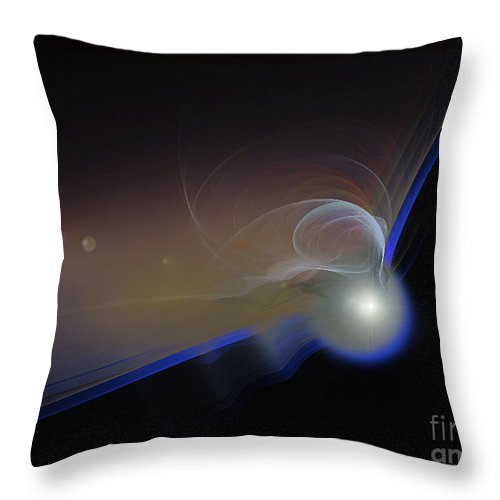 2-dimensional Throw Pillow featuring the digital art Get To The Point by Dana Haynes