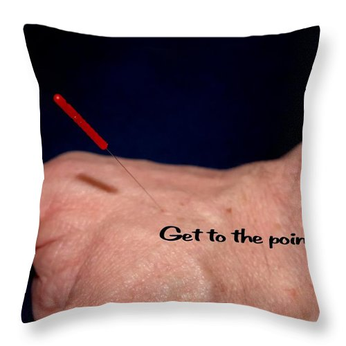 Think Throw Pillow featuring the photograph Get To The Point by Jerry Sodorff