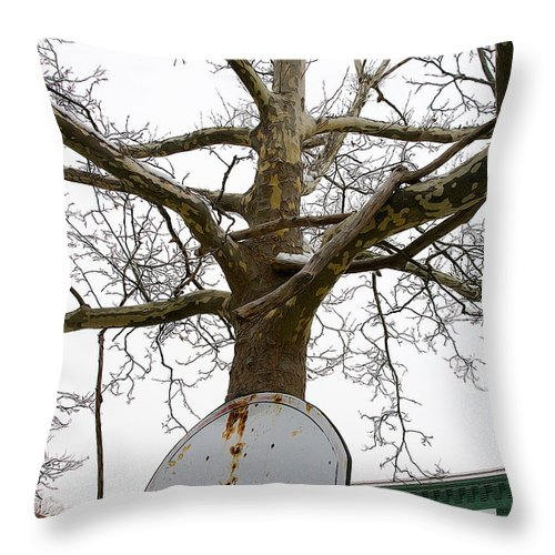 City Throw Pillow featuring the photograph Ghetto Bball by Alice Gipson