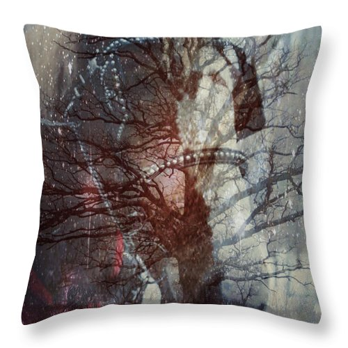 Horse Throw Pillow featuring the photograph Ghost Horse by Nancy TeWinkel Lauren